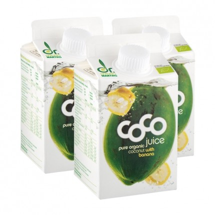 Dr. Antonio Martins Bio Coco Juice, Banane (3 x 500 ml)