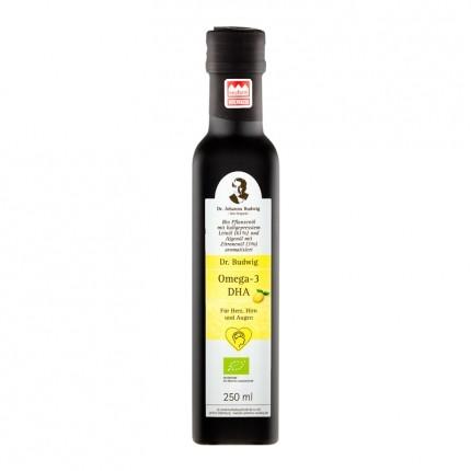 Bio Omega-3 DHA Öl mit Zitrone (250 ml)