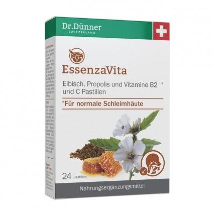 Dr. Dünner EssenzaVita Eibisch, Propolis & Vitamin B2 + C, Pastillen (24 Stück)