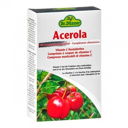 Gomme à mâcher dr Dünner acérola vitamine C - chez nu3