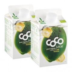 Dr. Antonio Martins Coco Juice Bio-Kokossaft mit Banane Doppelpack