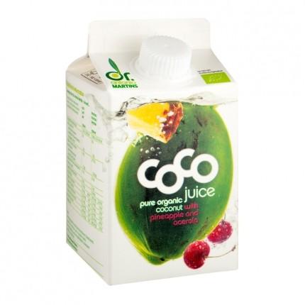 Dr. Antonio Martins Coco Juice Bio-Kokossaft mit Ananas/Acerola