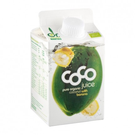 Dr. Antonio Martins Coco Juice Bio-Kokossaft mit Banane