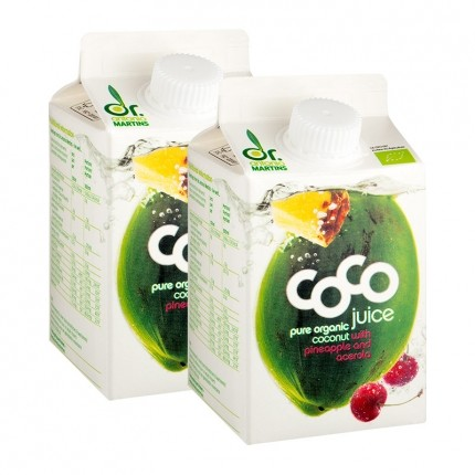 Dr. Antonio Martins Coco Juice Bio-Kokossaft mit Ananas/Acerola Doppelpack