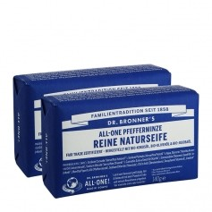 Dr. Bronner's Bar Soap Pfefferminze Doppelpack