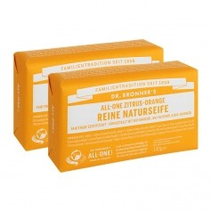 Dr. Bronner's Bar Soap Zitrus Orange Doppelpack