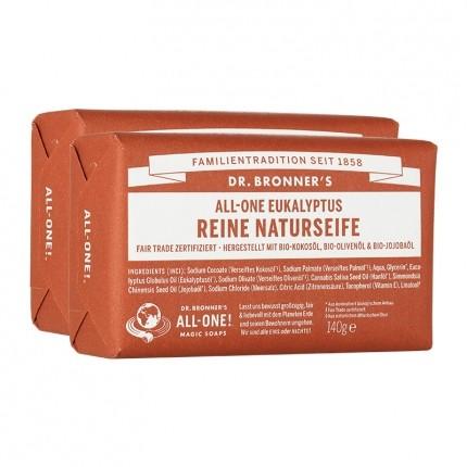 Dr. Bronner's Bar Soap Eukalyptus Doppelpack