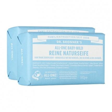Dr. Bronner's Bar Soap Neutral-Mild Doppelpack