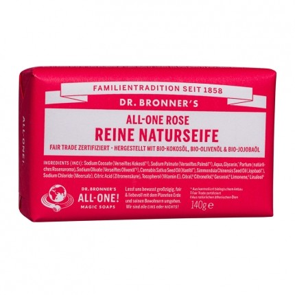 Dr. Bronner's Bar Soap Rose Doppelpack