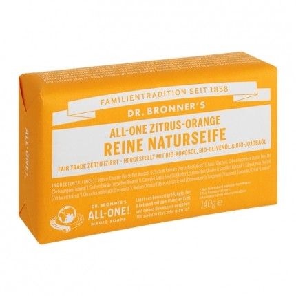 Dr. Bronner's Bar Soap Zitrus Orange