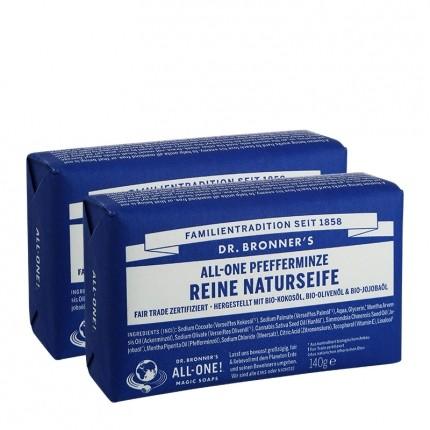 Dr. Bronner's Bar Soap Pfefferminze Doppelpack