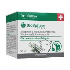 Dr. Dünner BioSphere Biosphäre Entlebuch Schafbutter, Wacholderöl, Kiefernadelöl, Salbe