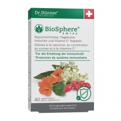Dr. Dünner BioSphere Kapuzinerkresse, Hagebutte, Holunder, Kapseln