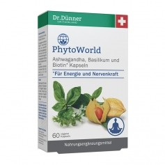 Dr. Dünner PhytoWorld Ashwagandha, Basilikum, Biotin, Kapseln