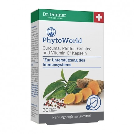Dr. Dünner PhytoWorld Curcuma, Pfeffer, Grüntee, Kapseln