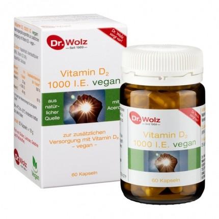 Dr. Wolz Vitamin D2 1000 vegan, Kapseln