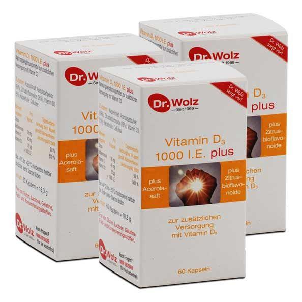 dr wolz vitamin d3 1000 i e plus kapseln hier kaufen. Black Bedroom Furniture Sets. Home Design Ideas