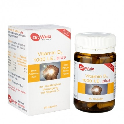 3 x Dr. Wolz Vitamin D3 1000 plus, Kapseln