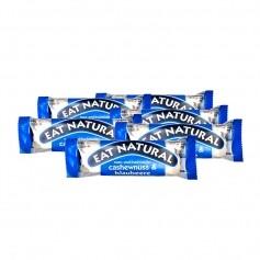 6 x EAT NATURAL Bar Cashew Blåbær med Youghurttrekk