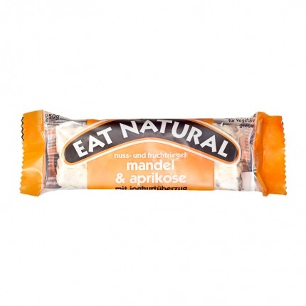 6 x EAT NATURAL Bar Mandel Aprikos med Yoghurttrekk