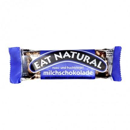 3 x EAT NATURAL Bar Peanøtt Cashew Tyttebær med Melkesjokolade