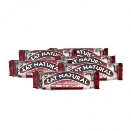 6 x EAT NATURAL Bar Tyttebær Macadamia med mørk sjokolade