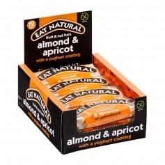 EAT NATURAL Faltschachtel Riegel Mandel Aprikose mit Joghurtüberzug