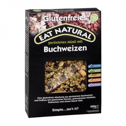 EAT NATURAL Müsli mit Buchweizen glutenfrei