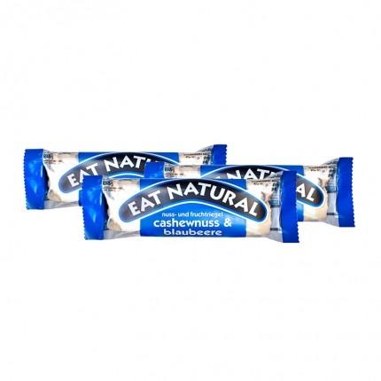 3 x EAT NATURAL Riegel Cashew Blaubeer mit Joghurtüberzug