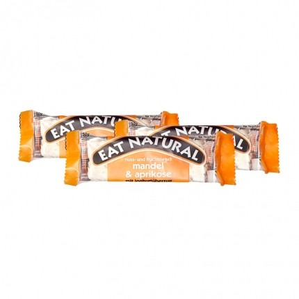 3 x EAT NATURAL Riegel Mandel Aprikose mit Joghurtüberzug