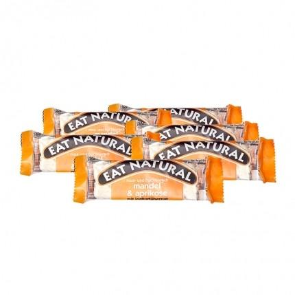 6 x EAT NATURAL Riegel Mandel Aprikose mit Joghurtüberzug