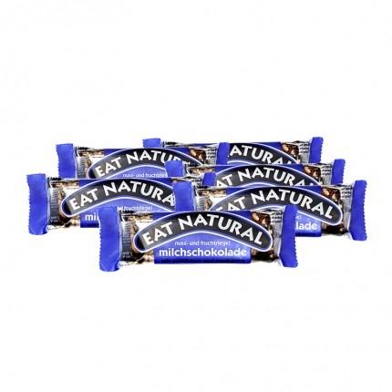 6 x EAT NATURAL Riegel Erdnuss Cashew Cranberry mit Milchschokolade
