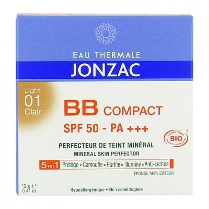 Eau thermale de Jonzac BB compact solaire 01 clair BB compact + sunscreen 01 Light