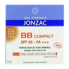 Eau thermale de Jonzac BB compact solaire 02 doré BB compact + sunscreen 02 Golden