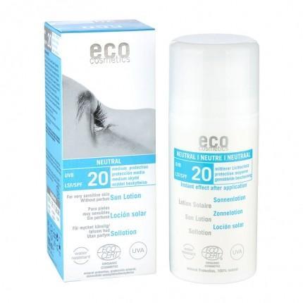 Köpa billiga eco cosmetics Solskyddslotion SPF 20 neutral online