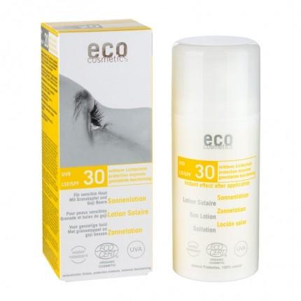 Köpa billiga eco cosmetics Solskyddslotion SPF 30 känslig hud online