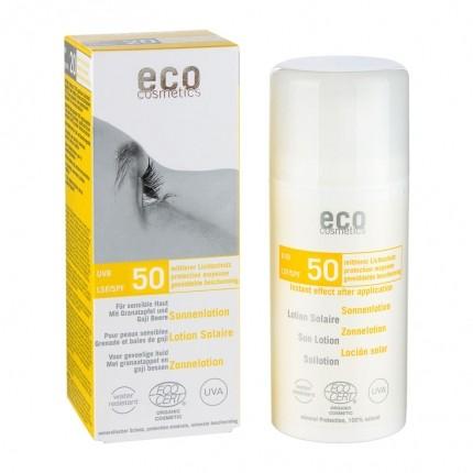 Köpa billiga eco cosmetics Solskyddslotion SPF 50 känslig hud online