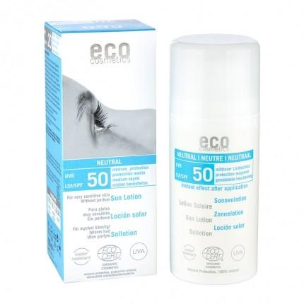 Köpa billiga eco cosmetics Solskyddslotion SPF 50 neutral online