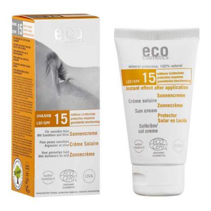 eco cosmetics Sonnencreme LSF 15, Sanddorn-Olive