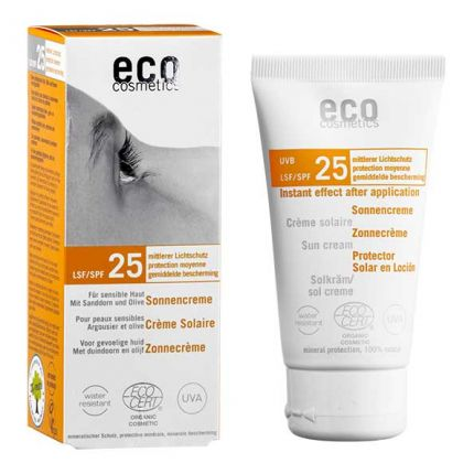 eco cosmetics Sonnencreme LSF 25, Sanddorn-Olive