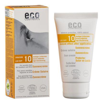 eco cosmetics Sonnencreme LSF 10, Sanddorn-Olive (75 ml)