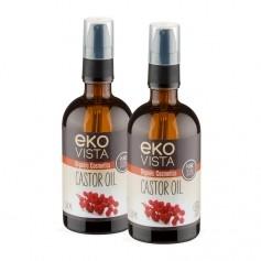 2 x Ekovista Castor Oil -risiiniöljy, luomu