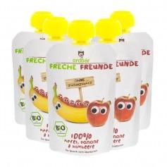 5 x Erdbär Quetschbeutel Freche Freunde Banane-Himbeer Bio