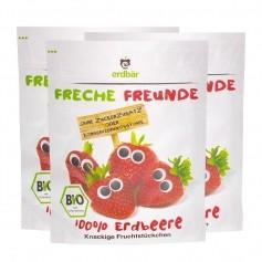 3 x Erdbär Fruchtchips Freche Freunde Erdbeere Bio