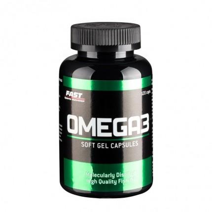 Fast Sports Nutrition Omega3 120 kapselia - Rasvahappovalmiste