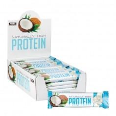 Naturally High Protein - Korkeaproteiininen proteiinipatukka, 42 x 35 g, kookos