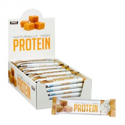Naturally High Protein - Korkeaproteiininen proteiinipatukka, 42 x 35 g, toffee