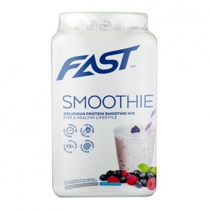 Fast Sports Nutrition Protein Smoothie Mix 500 g - smoothiejauhe, vadelma-mustikka