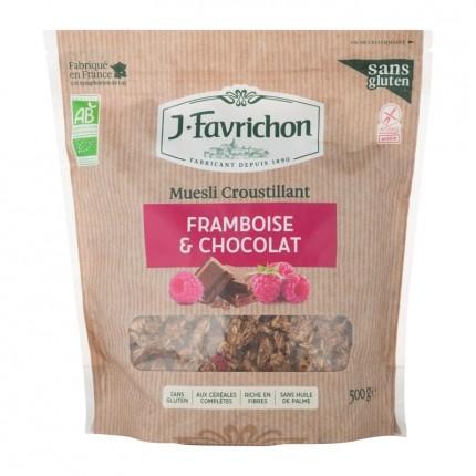 Favrichon, MÜESLI CROUSTILLANT FRAMBOISE CHOCOLAT
