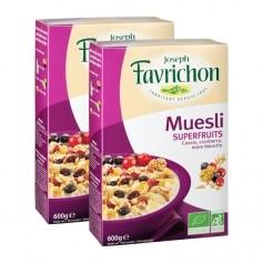 Favrichon Muesli Superfruits bio, Casis-Cranberry-Mûre blanche